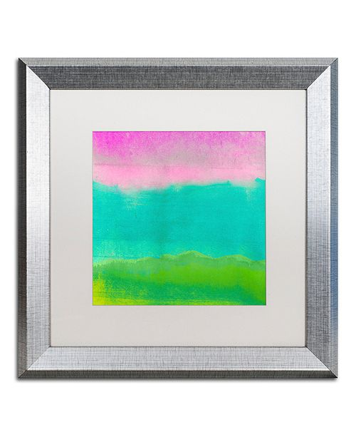 "Trademark Global Color Bakery 'Gradients I' Matted Framed Art, 16"" x 16"""
