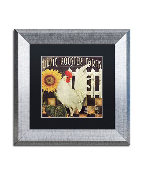 "Trademark Global Color Bakery 'Vermont Farms I' Matted Framed Art, 11"" x 11"""