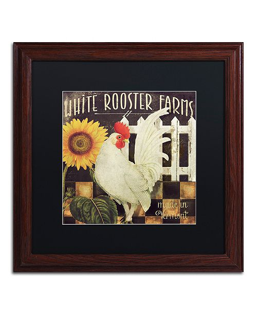 """Trademark Global Color Bakery 'Vermont Farms I' Matted Framed Art, 16"""" x 16"""""""