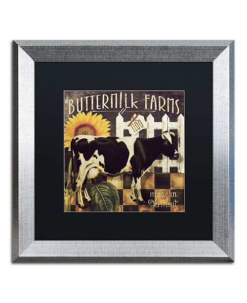 "Trademark Global Color Bakery 'Vermont Farms Ii' Matted Framed Art, 16"" x 16"""