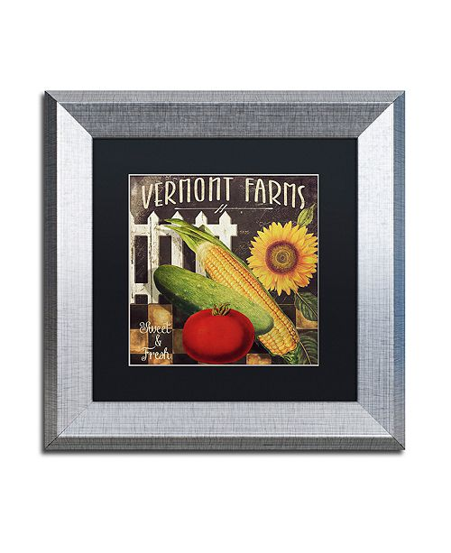 "Trademark Global Color Bakery 'Vermont Farms Vii' Matted Framed Art, 11"" x 11"""