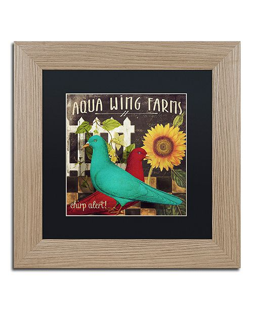 """Trademark Global Color Bakery 'Vermont Farms Ix' Matted Framed Art, 11"""" x 11"""""""