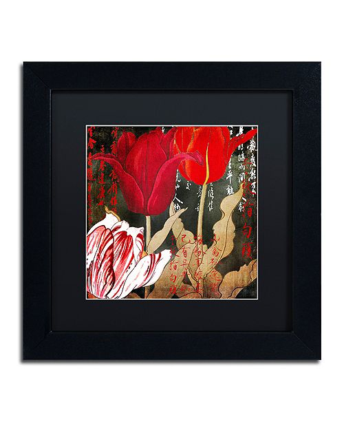 """Trademark Global Color Bakery 'China Red Ii' Matted Framed Art, 11"""" x 11"""""""
