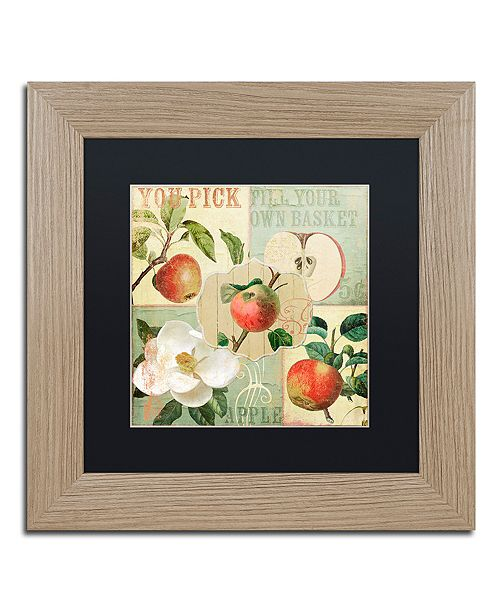 "Trademark Global Color Bakery 'Apple Blossoms Ii' Matted Framed Art, 11"" x 11"""