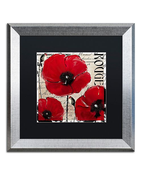 "Trademark Global Color Bakery 'Rouge Two' Matted Framed Art, 16"" x 16"""