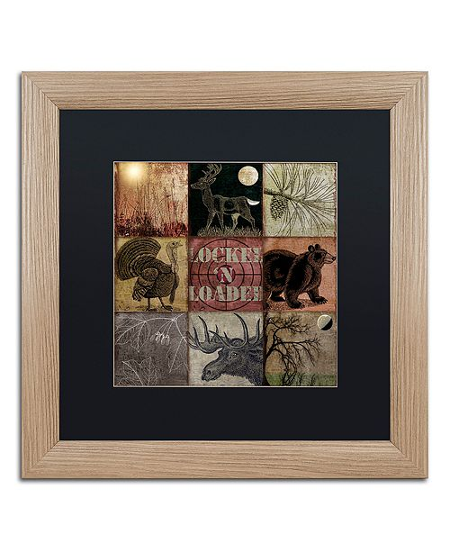 "Trademark Global Color Bakery 'Cabela Clock' Matted Framed Art, 16"" x 16"""