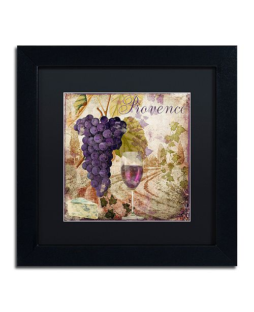"Trademark Global Color Bakery 'Wine Country Iii' Matted Framed Art, 11"" x 11"""