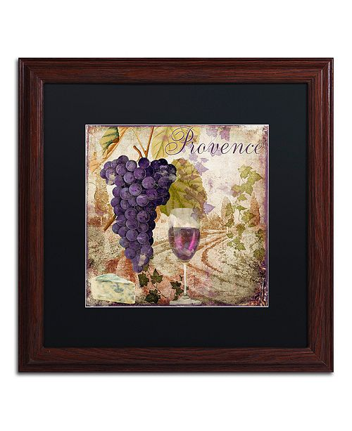 """Trademark Global Color Bakery 'Wine Country Iii' Matted Framed Art, 16"""" x 16"""""""