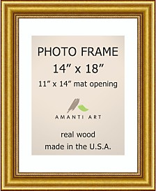 """Amanti Art Townhouse Gold 14"""" X 18"""" Matted to 11"""" X 14"""" Opening Wall Picture Photo Frame"""