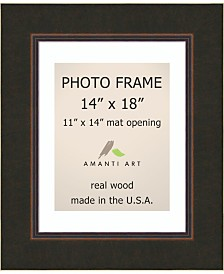 """Amanti Art Milano Bronze 14"""" X 18"""" Matted to 11"""" X 14"""" Opening Wall Picture Photo Frame"""