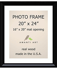 """Steinway Black 20"""" X 24"""" Matted to 16"""" X 20"""" Opening Wall Picture Photo Frame"""