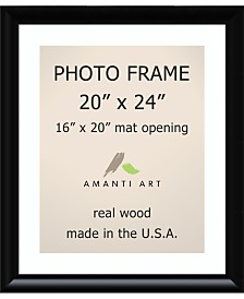 """Amanti Art Steinway Black 20"""" X 24"""" Matted to 16"""" X 20"""" Opening Wall Picture Photo Frame"""
