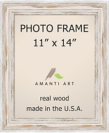 "Amanti Art Alexandria Whitewash 11"" X 14"" Opening Wall Picture Photo Frame"