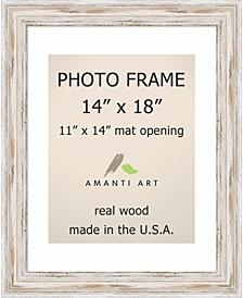 "Alexandria Whitewash 14"" X 18"" Matted 11"" X 14"" Opening Wall Photo Frame"