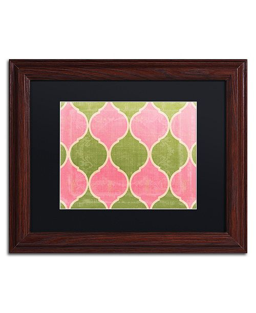 "Trademark Global Color Bakery 'Annabelle Lee Iii' Matted Framed Art, 11"" x 14"""