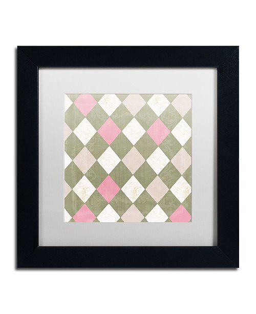 "Trademark Global Color Bakery 'Hyacinth Iii' Matted Framed Art, 11"" x 11"""