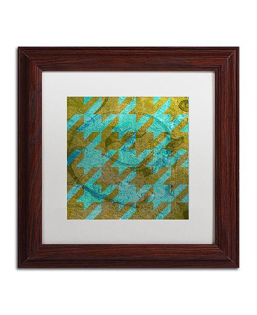 """Trademark Global Color Bakery 'Houndstooth V' Matted Framed Art, 11"""" x 11"""""""
