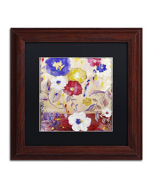 "Trademark Global Color Bakery 'Sevilla Iii' Matted Framed Art, 11"" x 11"""