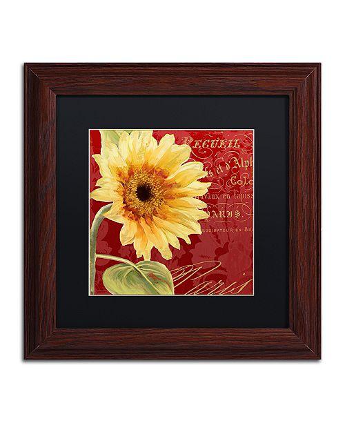 "Trademark Global Color Bakery 'Ete Iv' Matted Framed Art, 11"" x 11"""