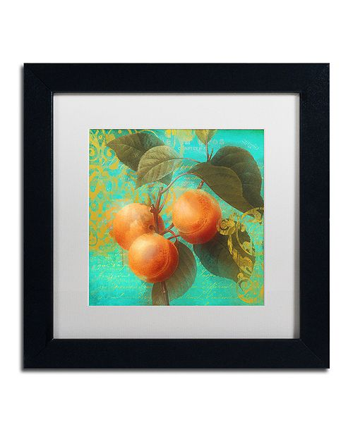 """Trademark Global Color Bakery 'Glowing Fruits Ii' Matted Framed Art, 11"""" x 11"""""""