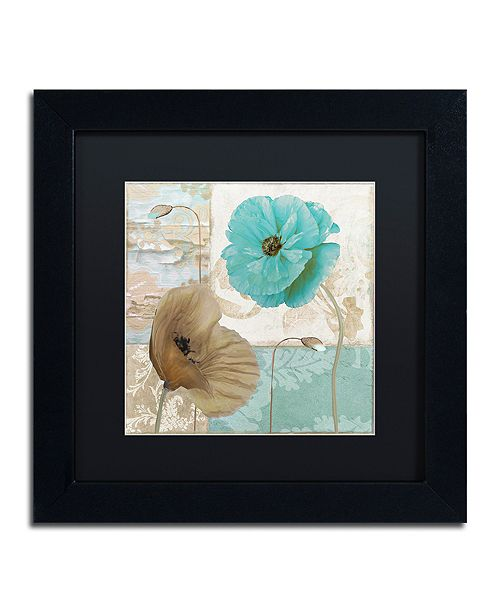 """Trademark Global Color Bakery 'Beach Poppies Iv' Matted Framed Art, 11"""" x 11"""""""