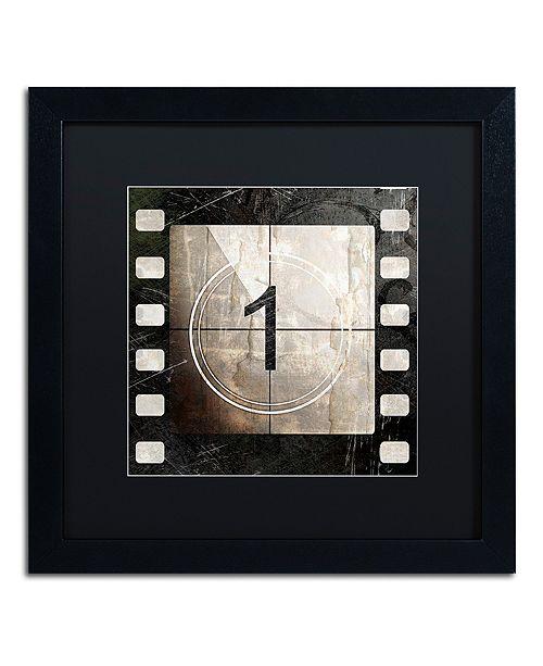 "Trademark Global Color Bakery 'Vintage Countdown I' Matted Framed Art, 16"" x 16"""