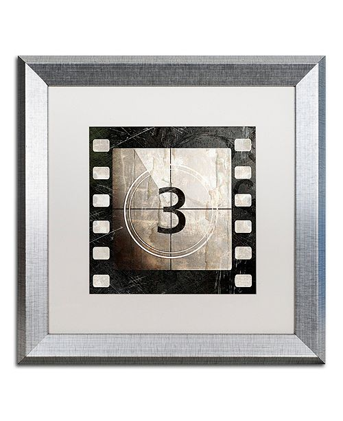 "Trademark Global Color Bakery 'Vintage Countdown Iii' Matted Framed Art, 16"" x 16"""