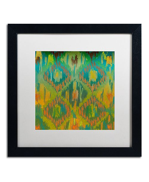 "Trademark Global Color Bakery 'Koolkat One' Matted Framed Art, 16"" x 16"""