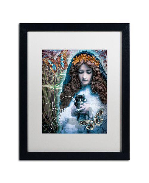 """Trademark Global Color Bakery 'Art Nouveau Zodiac Virgo' Matted Framed Art, 16"""" x 20"""""""