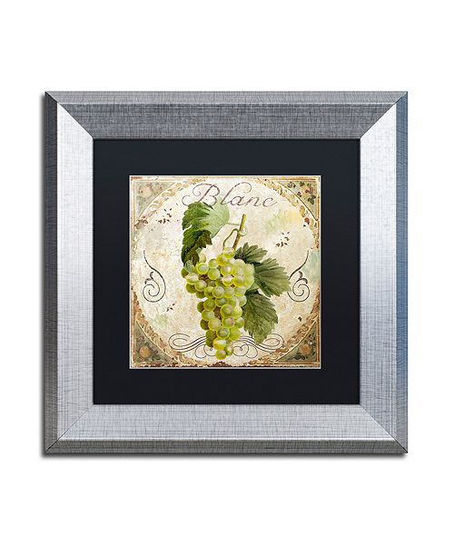 "Trademark Global Color Bakery 'Tuscany Table Blanc' Matted Framed Art, 11"" x 11"""