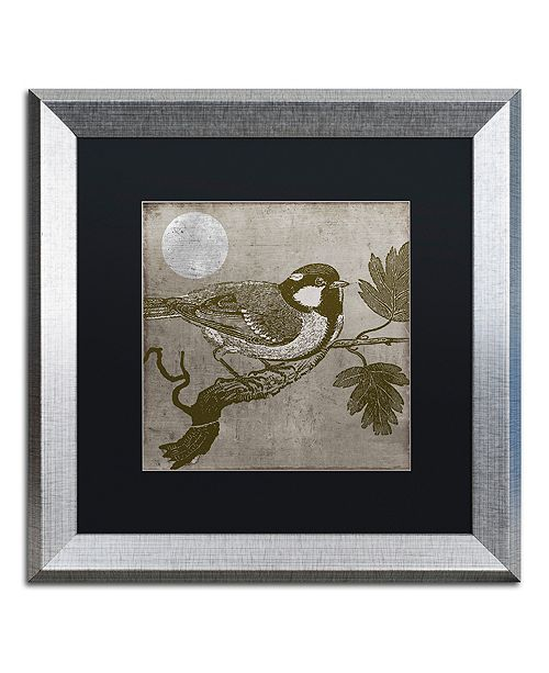 "Trademark Global Color Bakery 'Moon Bird' Matted Framed Art, 16"" x 16"""