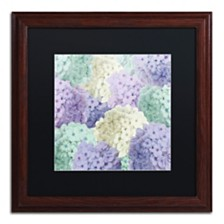 """Color Bakery 'Hortensia Groundless Cool Tones' Matted Framed Art, 16"""" x 16"""""""