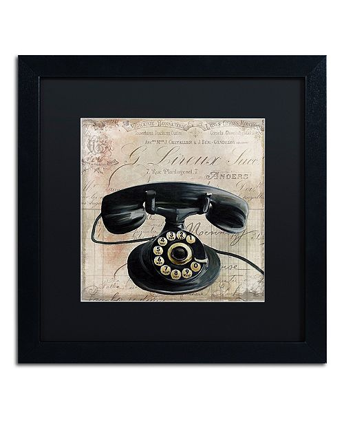 "Trademark Global Color Bakery 'Call Waiting Ii' Matted Framed Art, 16"" x 16"""