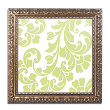 Color Bakery 'Calyx Damask' Ornate Framed Art