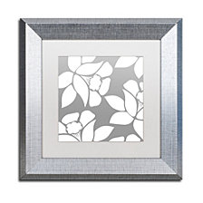 Color Bakery 'Calyx Floral' Matted Framed Art