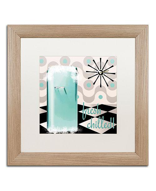 "Trademark Global Color Bakery 'Fifties Kitchen Ii' Matted Framed Art, 16"" x 16"""
