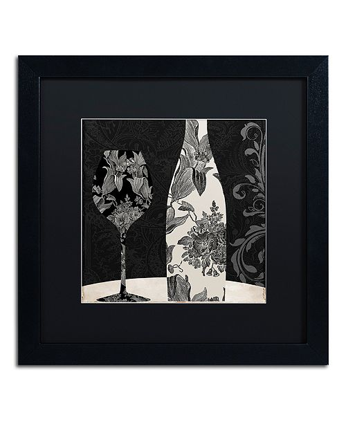 "Trademark Global Color Bakery 'Vin Elegant I' Matted Framed Art, 16"" x 16"""