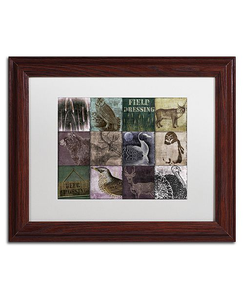 "Trademark Global Color Bakery 'Hunting Season Vi' Matted Framed Art, 11"" x 14"""