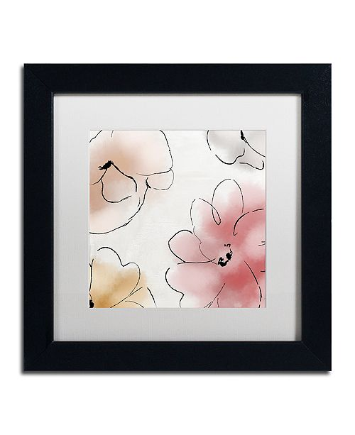 """Trademark Global Color Bakery 'Kasumi One' Matted Framed Art, 11"""" x 11"""""""