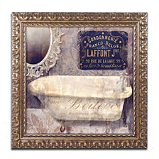 Color Bakery 'Le Bain Paris I' Ornate Framed Art