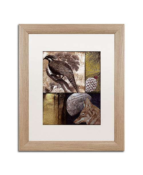 """Trademark Global Color Bakery 'On The Hunt Iii' Matted Framed Art, 16"""" x 20"""""""
