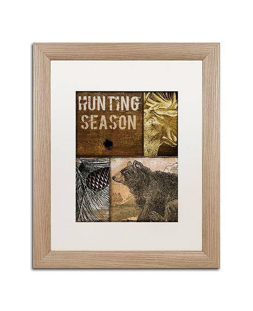 "Trademark Global Color Bakery 'Hunting Season Iv' Matted Framed Art, 16"" x 20"""