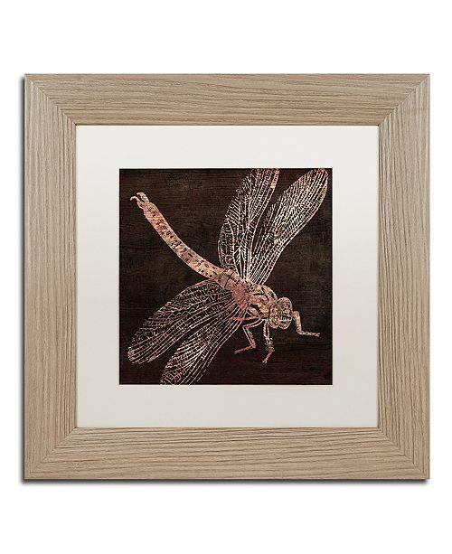 "Trademark Global Color Bakery 'Dragonfly' Matted Framed Art, 11"" x 11"""