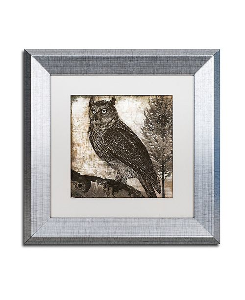 "Trademark Global Color Bakery 'Owl 2' Matted Framed Art, 11"" x 11"""