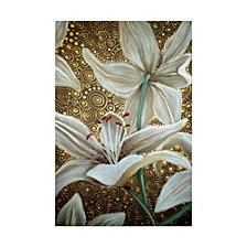 Cherie Roe Dirksen 'Lilies On Parade' Canvas Art