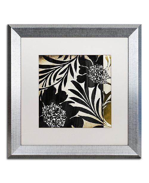"""Trademark Global Color Bakery 'Floral Jungle Lines I' Matted Framed Art, 16"""" x 16"""""""
