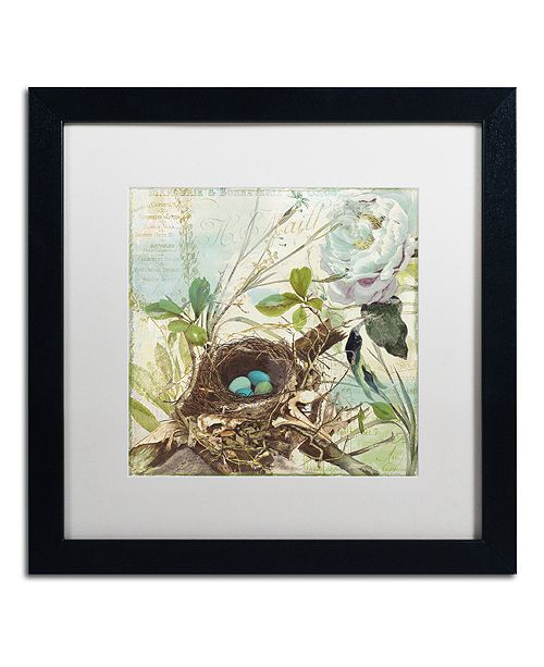 "Trademark Global Color Bakery 'Nesting Ii' Matted Framed Art, 16"" x 16"""