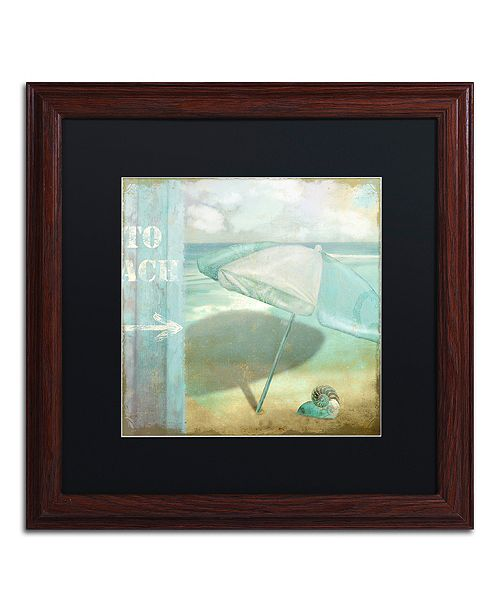 """Trademark Global Color Bakery 'By The Sea Ii' Matted Framed Art, 16"""" x 16"""""""