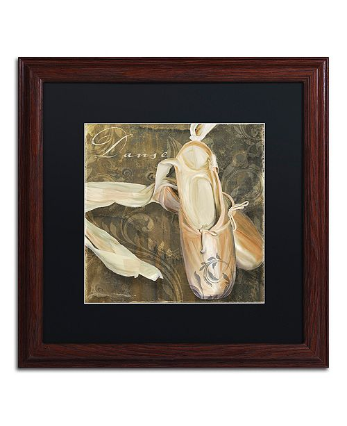 "Trademark Global Color Bakery 'Danse Ii' Matted Framed Art, 16"" x 16"""