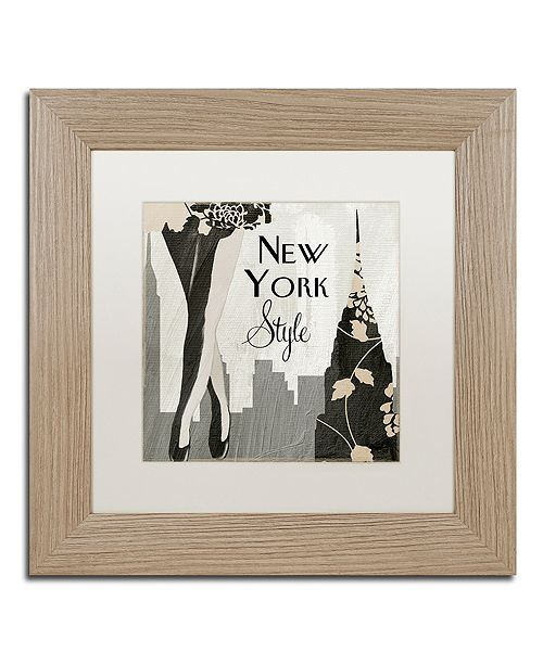 "Trademark Global Color Bakery 'New York Style I' Matted Framed Art, 11"" x 11"""